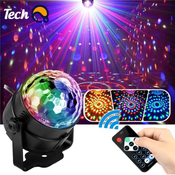 Bảng giá đèn led siêu sáng 7 màu, Đèn led xoay 7 màu cảm ứng theo nhạc trang trí tại gia đình, phòng karaoke