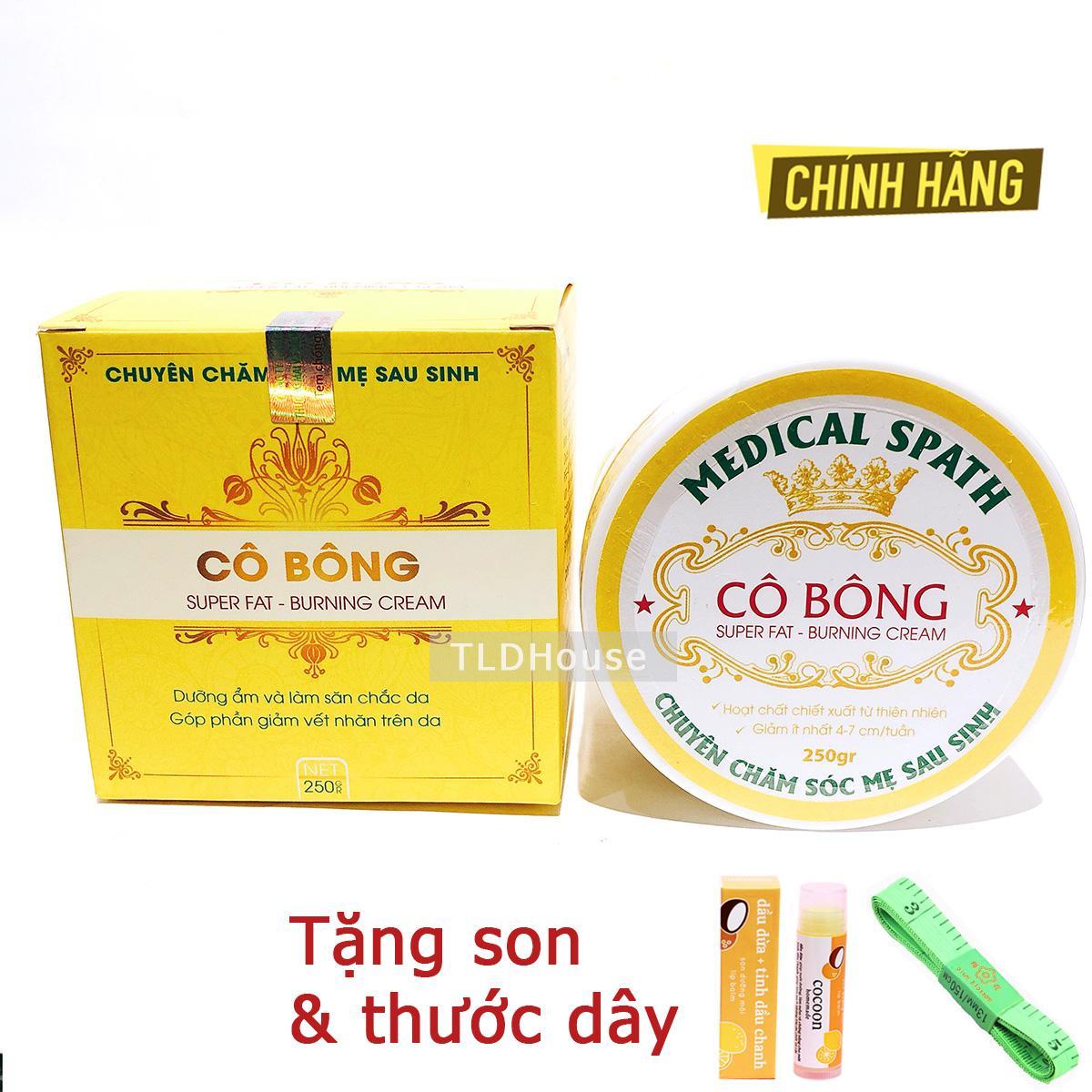 Kem Tan Mỡ Cô Bông 250g Giảm Mỡ Bụng ( tặng son dưỡng ) nhập khẩu