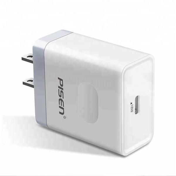 Cốc Sạc Pisen Type-C PD Wall Charger (1 cổng Type-C PD3.0 18W)