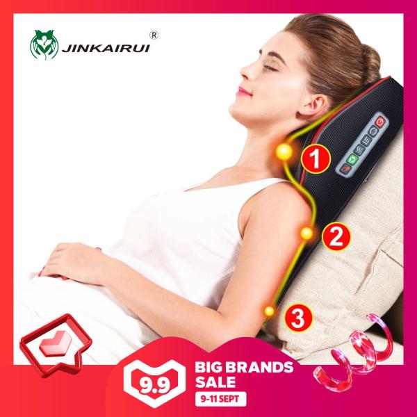Jinkairui Gối massage Mát xa cổ Kneading Shiatsu máy masssage cho cơ thể  có thể sử dụng cho xe hơi và tại nhà Gối mát xa