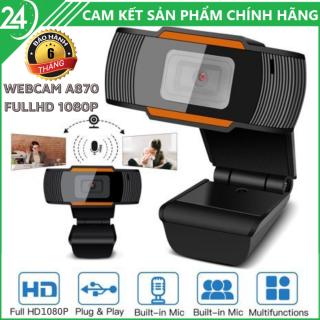 Webcam Máy Tính Full HD 1080P - Bảo Hành 6 Tháng, Webcam có mic , góc rộng phục vụ cho việc học tập, giảng dạy và họp hành online trong mùa dịch, webcam full hd , webcam full hd 1080p , webcam full hd 1080pc thumbnail