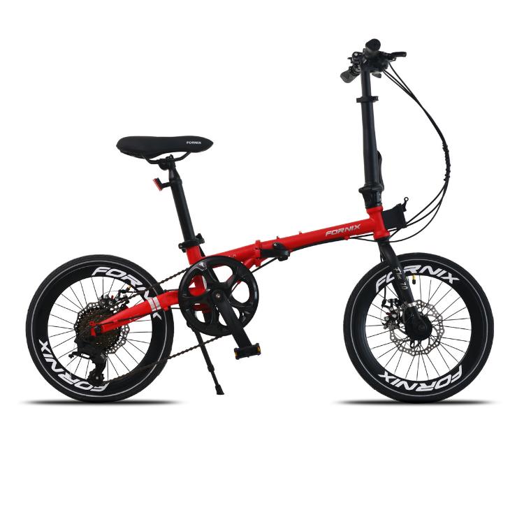 Mua Xe đạp gấp Fornix F160, Khung sườn Hợp kim thép Chrome molypden Cao Cấp, Trọng lượng 11.96kg, Bộ truyền động L-TW00 A3, Tốc độ 8Speed, Vòng bánh 16inches (Bạn cao từ 1m30), màu Đỏ