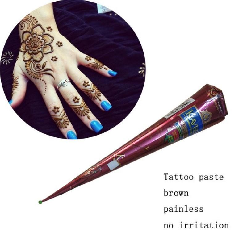 Mực henna Nâu truyền thống tự nhiên 100% mực xăm henna Tattoo Ấn Độ