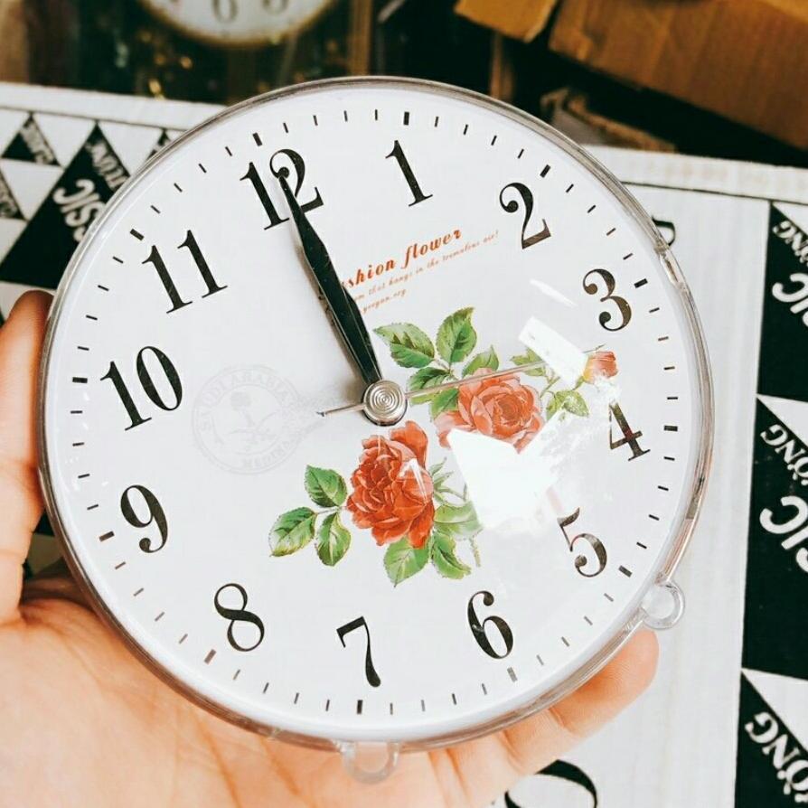 Đồng hồ báo thức in hình mặt số theo yêu cầu (mặt tròn) bán chạy