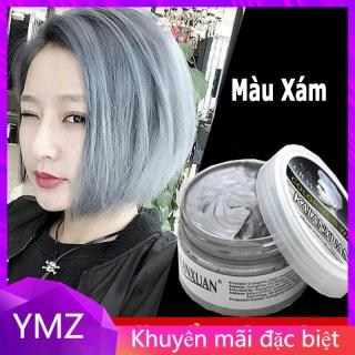 Sáp vuốt nhuộm tóc tạm thời AILETE ASH hàng chính hãng lên màu nhanh, giữ màu tốt ( xám khói, trắng kim, xanh dương, xanh lá, đỏ, tím, vàng) thumbnail