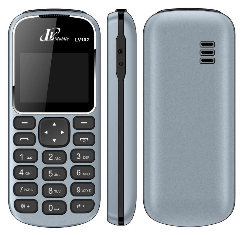 [ Giao Màu Ngẫu Nhiên ] Điện thoại LV102 - 1 SIM - Màn Hình Trắng Đen