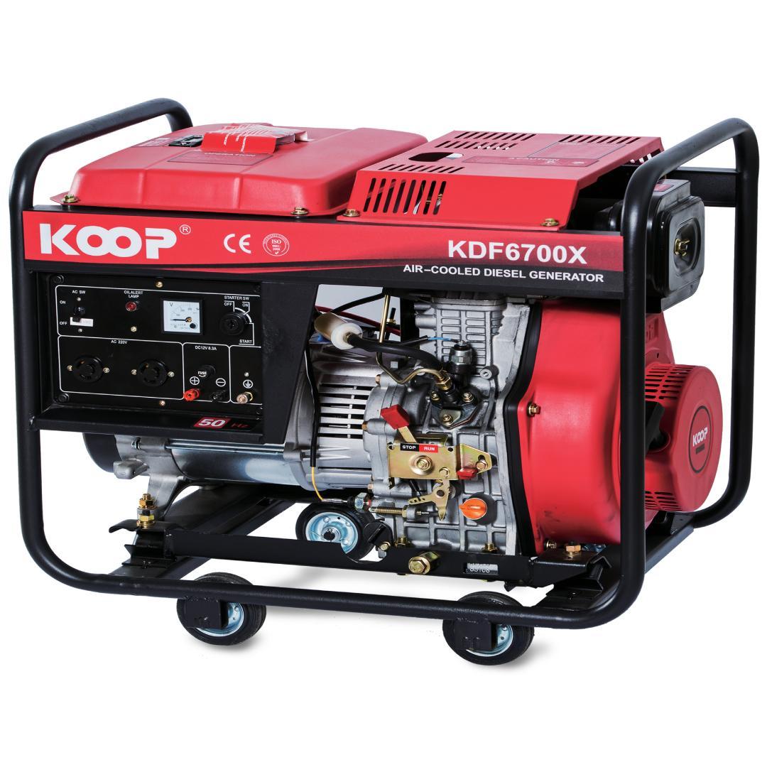 Máy Phát Điện Chạy Dầu 4.5KW Koop KDF6700X