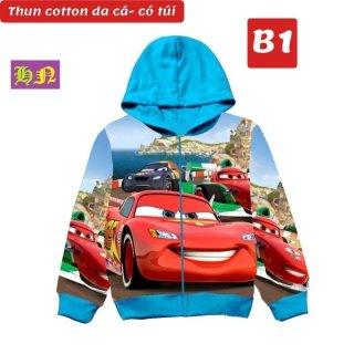 Áo khoác bé trai hình xe Mcqueen từ 11-43kg-Áo lạnh thun da cá thấm hút mồ hôi-Hương Nhiên thumbnail