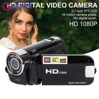 Guajave Full HD 1080P 16X Zoom Kỹ Thuật Số 16MP Đầu Ghi Hình Máy Quay Camera Di Động Cam