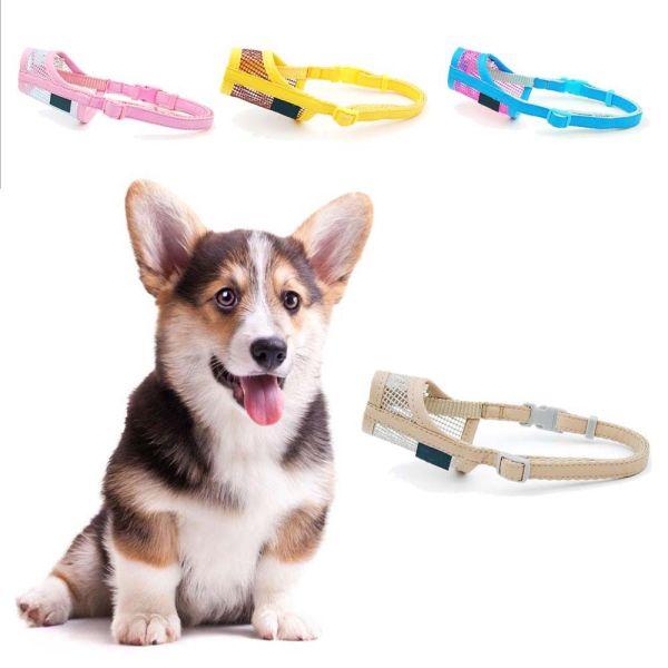 YINLMALL Nylon Nhai vỏ cây chống cắn Thoáng khí Có thể điều chỉnh Nhai Chải lông miệng Sản phẩm dành cho thú cưng Mõm chó Mõm miệng