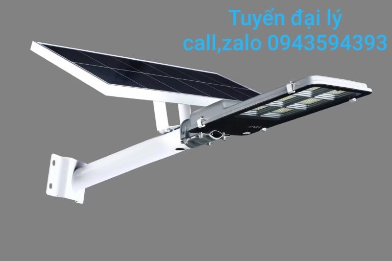 Đèn đường pha bàn chải năng lượng mặt trời 300W