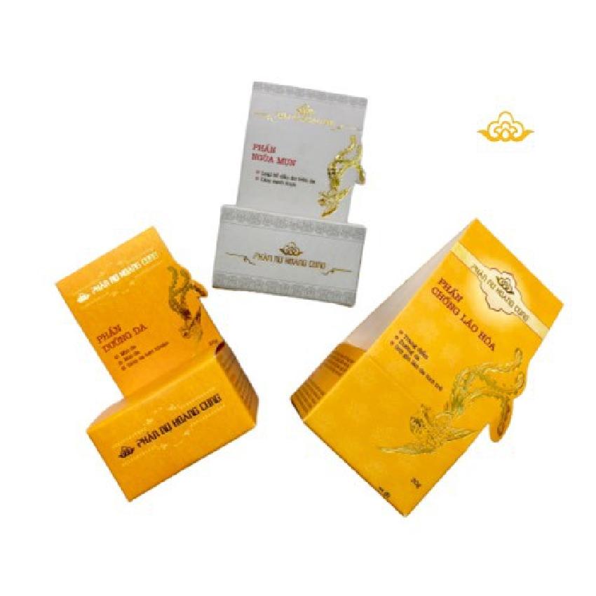 Combo  phấn dưỡng da nhờn,  phấn ngừa mụn ,phấn chống lão hóa trắng -Phấn Nụ Hoàng Cung
