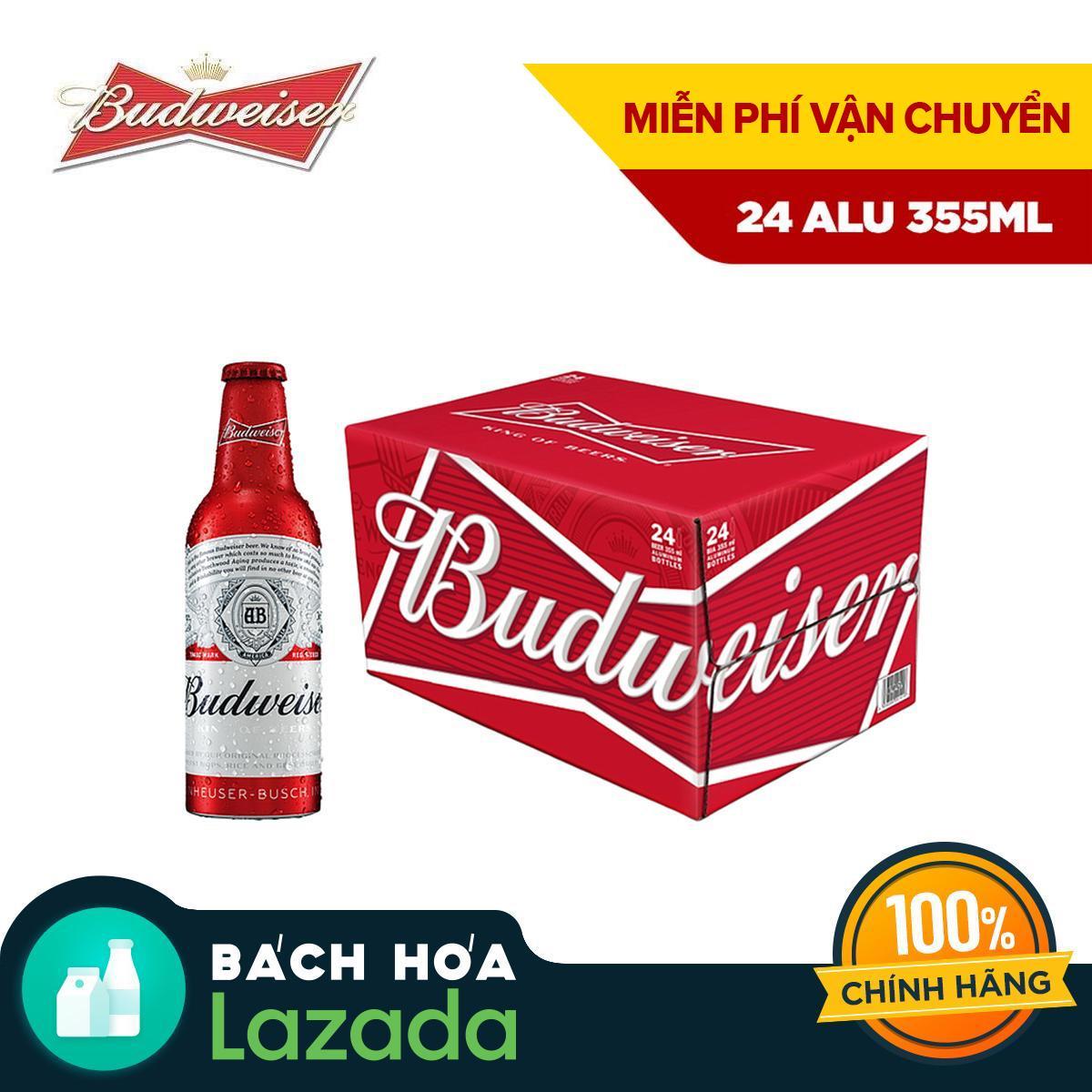 Thùng 24 Chai Bia Budweiser Aluminum 355ml Siêu Ưu Đãi tại Lazada