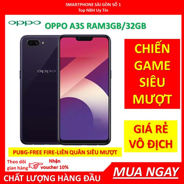 điện thoại Oppo A3 S (OPPOA3S) 2sim 32G mới Chính Hãng, Chơi TikTok Zalo Fb Youtube, PUBG/Liến Quân mượt