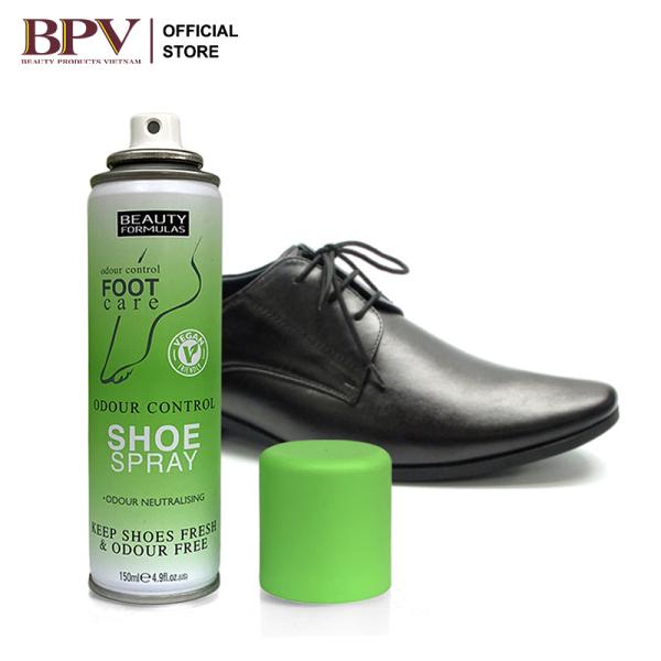 Xịt Khử Mùi Giày Beauty Formulas 150ml nhập khẩu