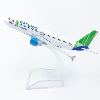 Mô hình máy bay Bamboo Airways a320 16cm thumbnail