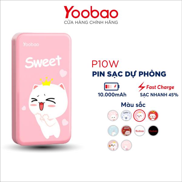 Pin Sạc dự phòng Yoobao mini 10000mAh P10W - Hãng phân phối chính thức
