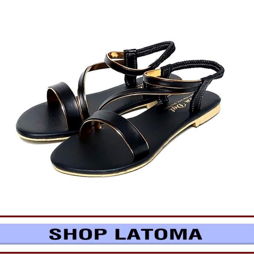 Giày sandal nữ  thời trang cao cấp Latoma TA2331 (Đen) giá rẻ
