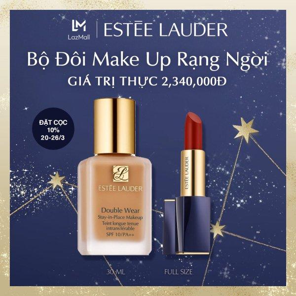 [Presale 20-26/3] Bộ đôi Make up Estee Lauder gồm Kem nền lâu trôi Double Wear 30ml & Son Pure Color Envy Matte Sculpting Lipstick 3.5g tốt nhất