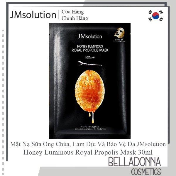 Hộp 10 Mặt Nạ Mật Ong Dưỡng Ẩm Sâu, Chống Lão Hoá Jm Solution Honey Luminous Royal Propolis Mask 30ml x 10