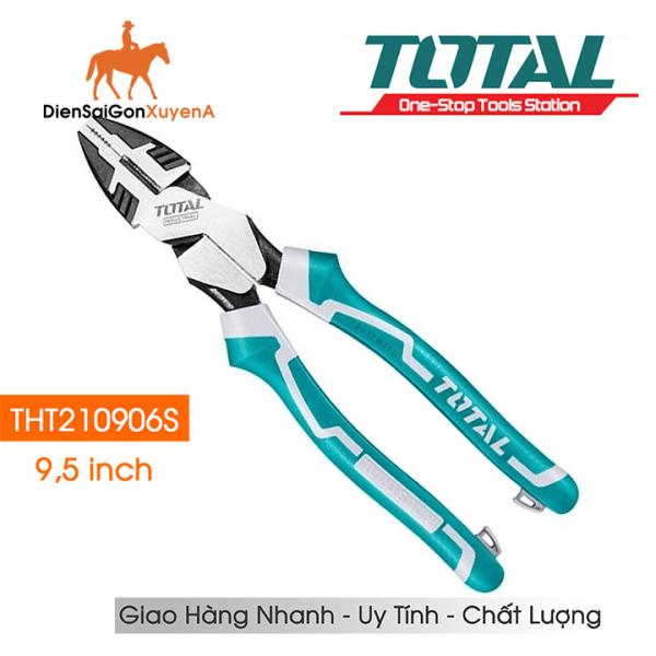 Kìm điện kềm răng 9,5inch 240mm Total THT210906S