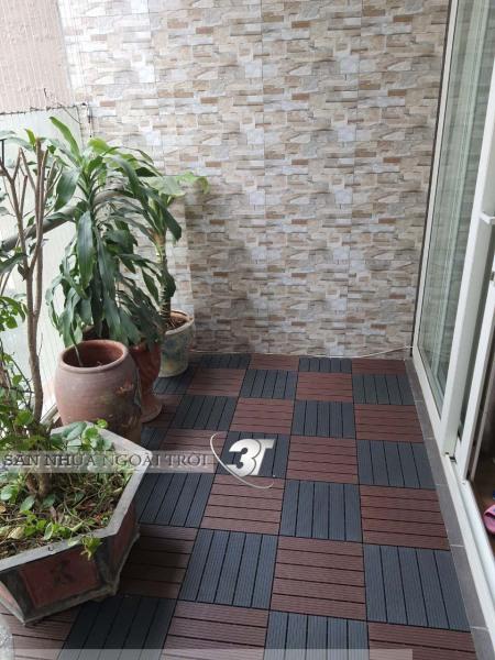 Tấm Lót Sàn Nhựa Nguyên Khối 3T, Thảm Trải Sàn Gạch Nhựa UPVC Lót Ban Công, Nhà Tắm, WC, Sân Vườn,Tiểu Cảnh