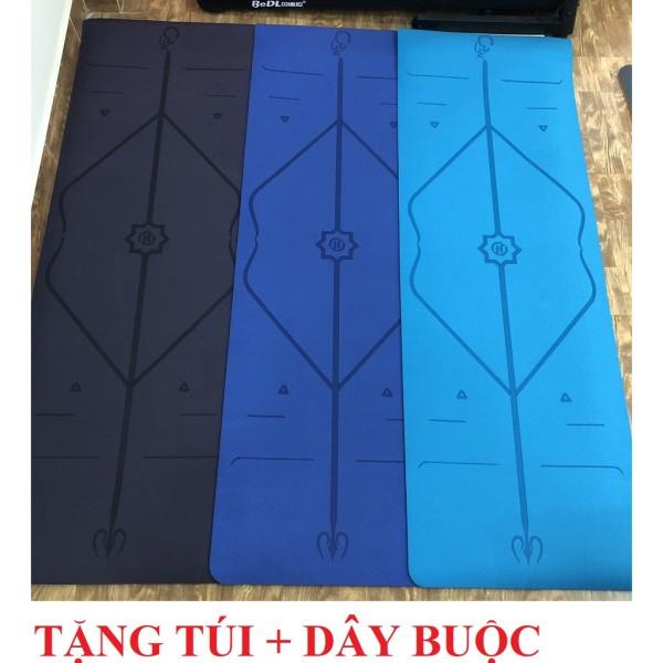 Bảng giá Thảm Tập Eco Yoga Mat Định Tuyến 2 Lớp Cao Cấp Tặng Dây Buộc và Túi Đeo