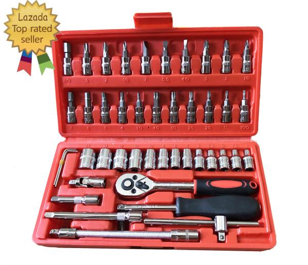 Bộ dụng cụ sửa chữa đa năng cao cấp 46 món - bộ dụng cụ sửa chữa xe máy ô tô đa năng - bộ đồ nghề sửa chữa (MÀU ĐỎ)
