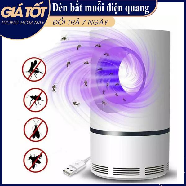 Đèn bắt muỗi thông minh - Máy bắt muỗi và diệt côn trùng quang điện tử tháp tròn DGS kiêm đèn ngủ (Trắng) - Đèn bắt muỗi thông minh - Diệt muỗi sinh học