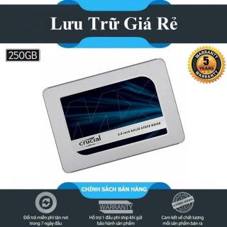 [Voucher 50k Shop Mới] Ổ cứng SSD Crucial MX500 3D-NAND SATA III 2.5 inch 250GB - Hãng Phân Phối Chính Thức thumbnail