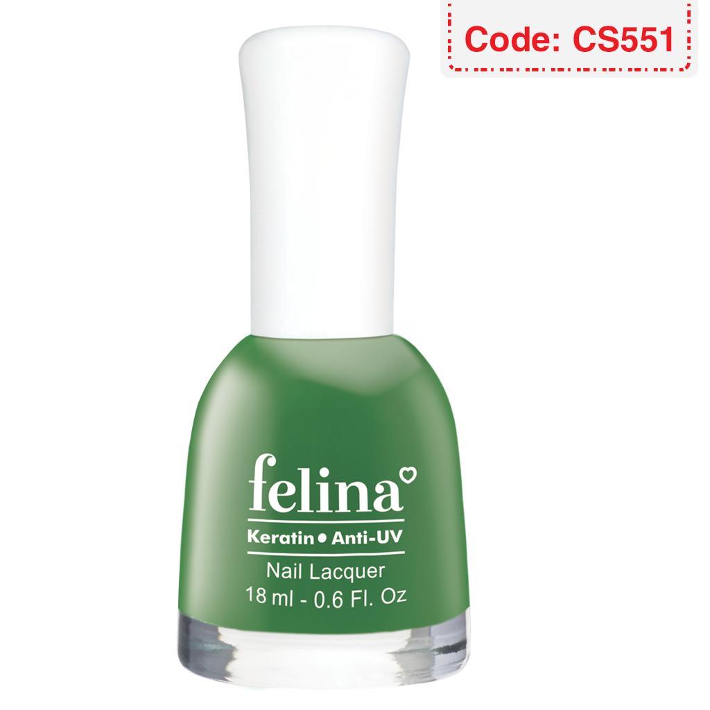 Sơn móng tay Felina 18ml - Màu Xanh Rêu - Code CS551 tốt nhất