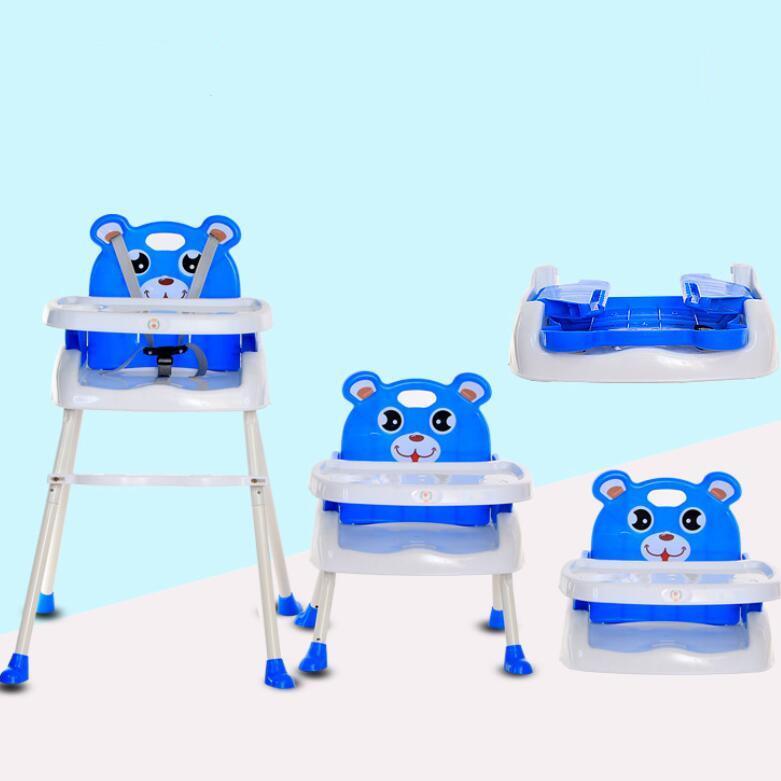 Mã Khuyến Mại Ghế ăn Dặm Nhiều Hình Gấu Nấc độ Cao Gấp Gọn Baobaohao 218 (tặng Yếm ăn)