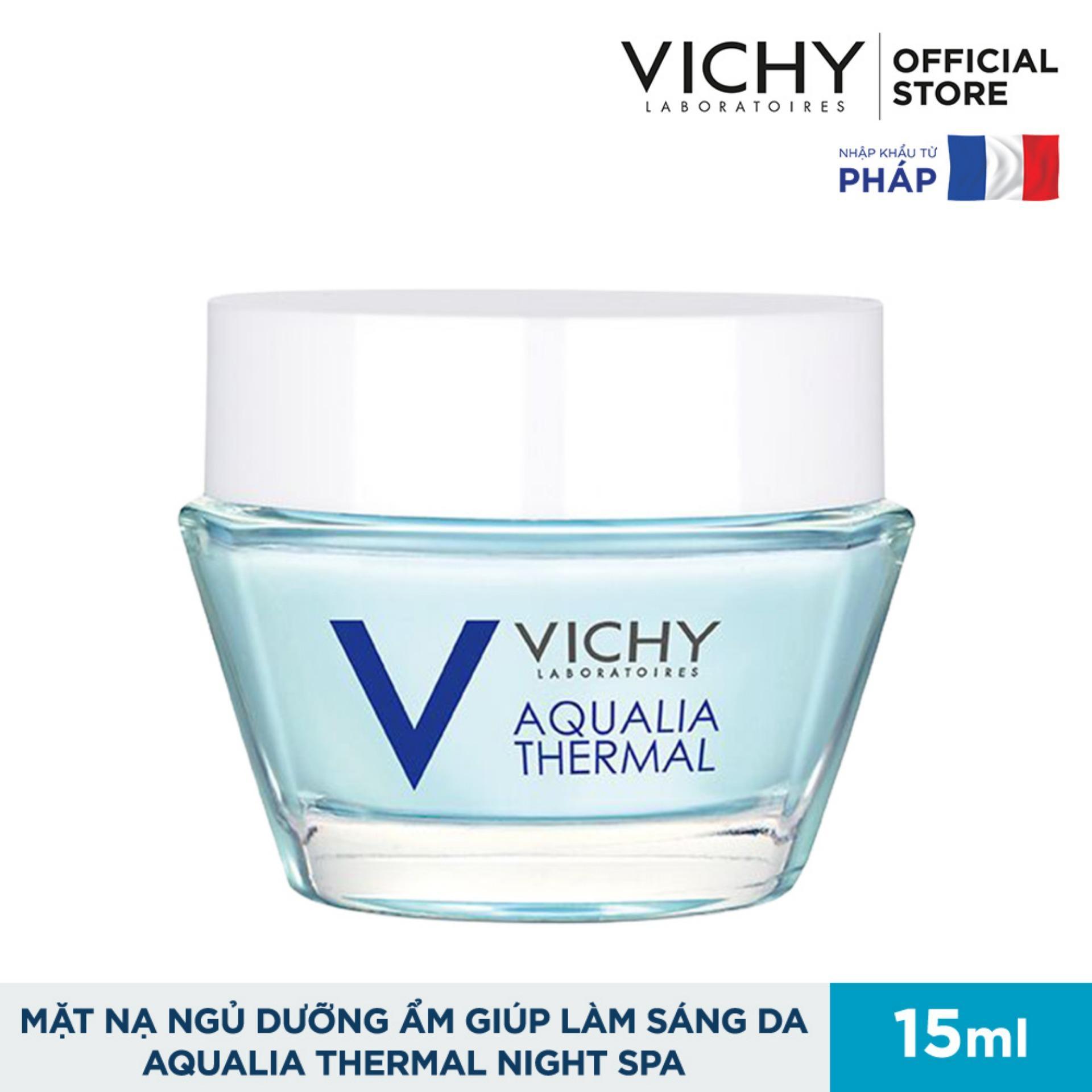 Mặt nạ ngủ dưỡng ẩm giúp làm sáng da Vichy Aqualia Thermal Night Spa Replenishing Radiance Enhancing Sleeping Mask 15ml nhập khẩu