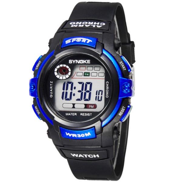 Đồng hồ thể thao trẻ em Synoke 99569 (Đen phối xanh)