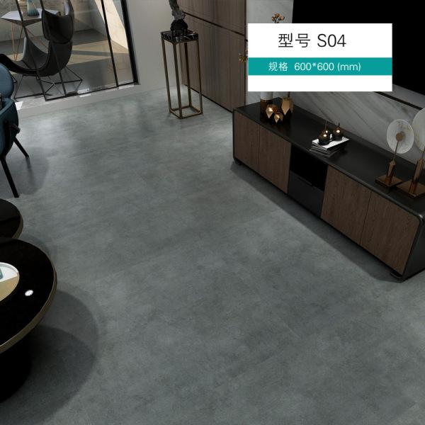 HTS164 Sàn nhựa pvc vân đá dán sàn chống ximăng trực tiếp lát nền giả gạch men dày dán cải tạo sàn nhà