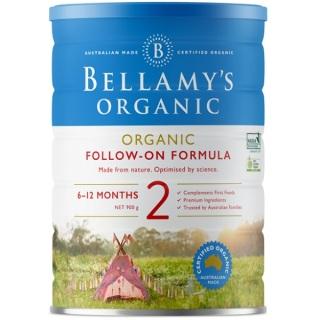 Sữa Bellamy s Organic công thức số 2 (bé từ 6-12 tháng) - 900gram thumbnail