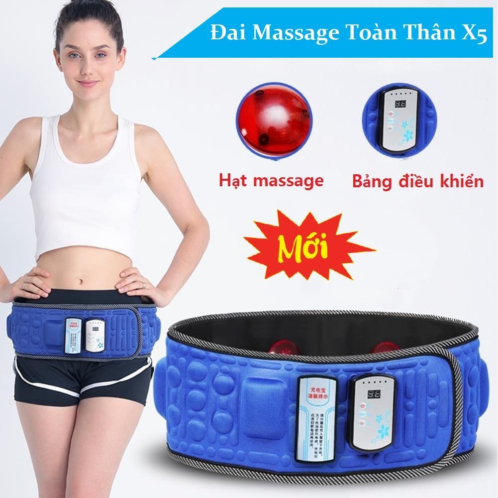Mã Ưu Đãi Khi Mua Đai Massage X5 - Máy Mát Xa Bụng, Máy Tập Cơ Bụng Cao Cấp Đánh Tan Mỡ Bụng - Đai Massage Tan Mỡ Bụng Bảo Hành 1 Đổi 1 Toàn Quốc