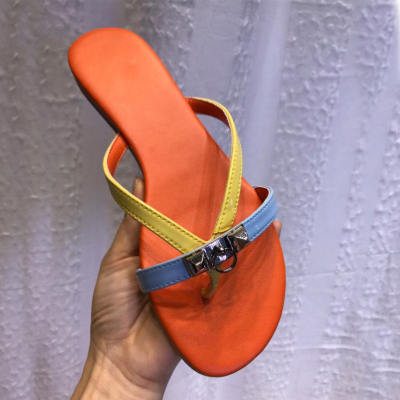 Dép kẹp khóa mới phối màu hot trend - Mua 1 tặng 1 quà - DD-0201 giá rẻ