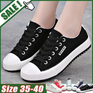 Giày thể thao nữ đế bằng chất liệu vải bố + đế cao su chống trượt phong cách Hàn Quốc đơn giản năng động - INTL thumbnail
