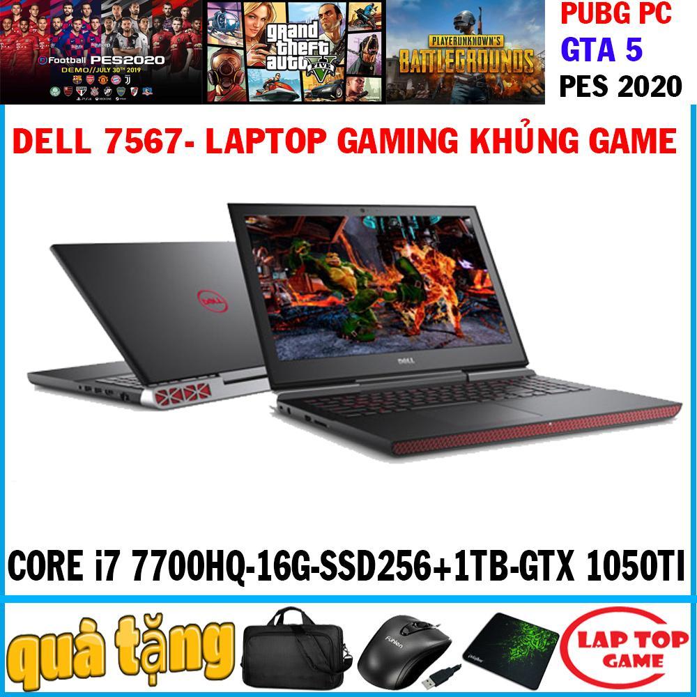 Laptop Dell Inspiron 7567 quái vật gaming Core i7-7700HQ/ 8G/ HDD 1TB/ VGA GTX 1050TI 4G/ 15.6 inch Full HD 1920*1080 tấm nền IPS