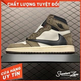 (FREESHIP+HỘP+QUÀ) Giày Thể Thao Sneakers AIR JORDAN 1 Retro High Travis Scott Xám Nâu Cao Cổ - SNEAKERS ZONE thumbnail