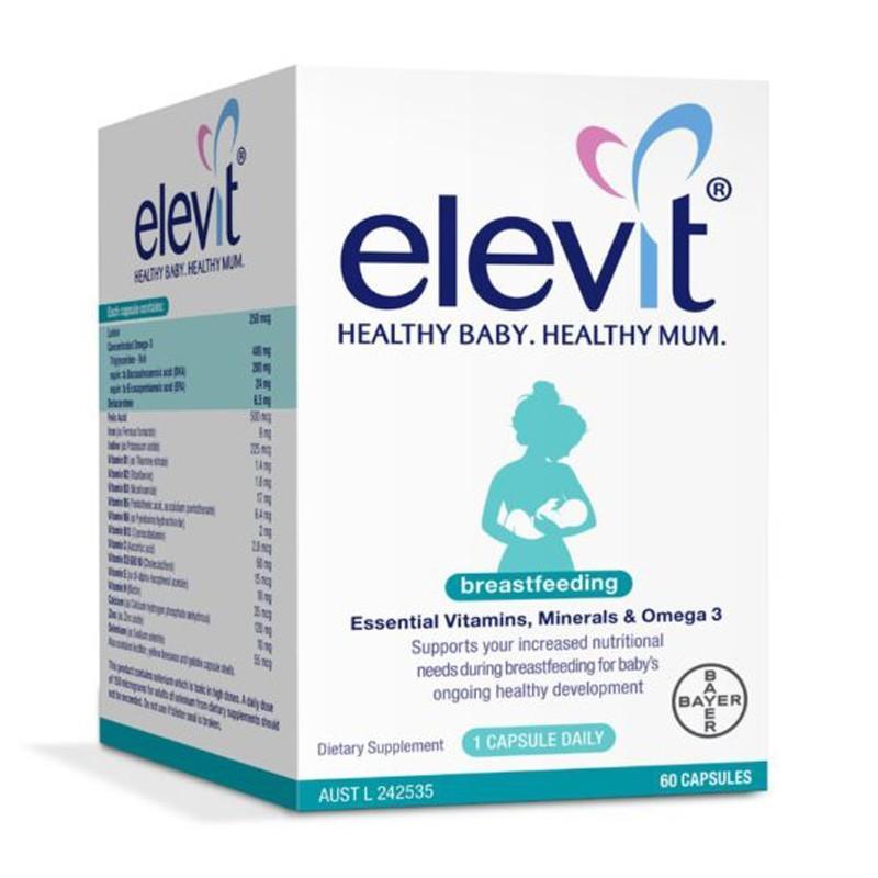 Elevit Breastfeeding – Elevit sau khi sinh – Elevit cho con bú (60 viên) nhập khẩu