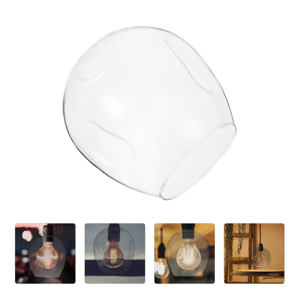 Bảng giá Ouruola【Ready Stock】Transparent Glass Lamp Cover European Style Lampshade Bedroom Lampshade