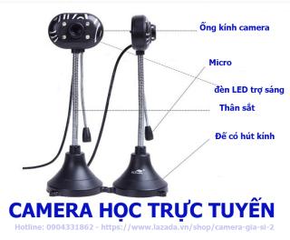 camera webcam Tích hợp Micro dùng cho học trực tuyến, họp online chất lượng hình ảnh HD720P và FHD 1080P có đèn LED trợ sáng . kết nối máy tính quan cổng usb . máy tính tự nhận cắm làm chạy không cần cài đặt thumbnail
