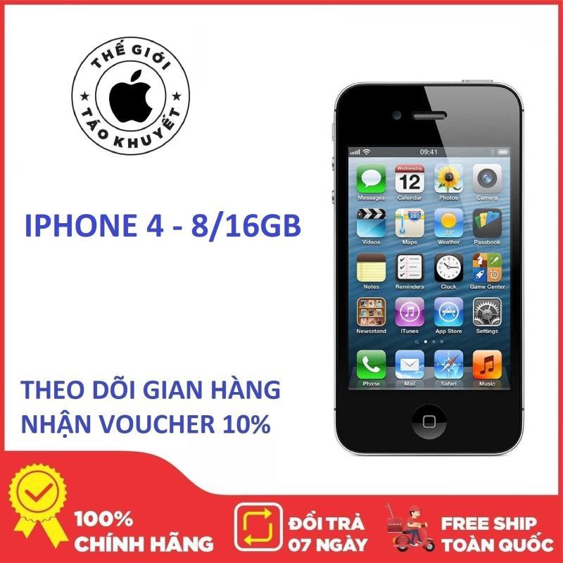 Điện thoại giá rẻ Apple IPHONE 4 - 8GB - Bảo hành 12 tháng - Tặng cáp sạc - Thế Giới Táo Khuyết