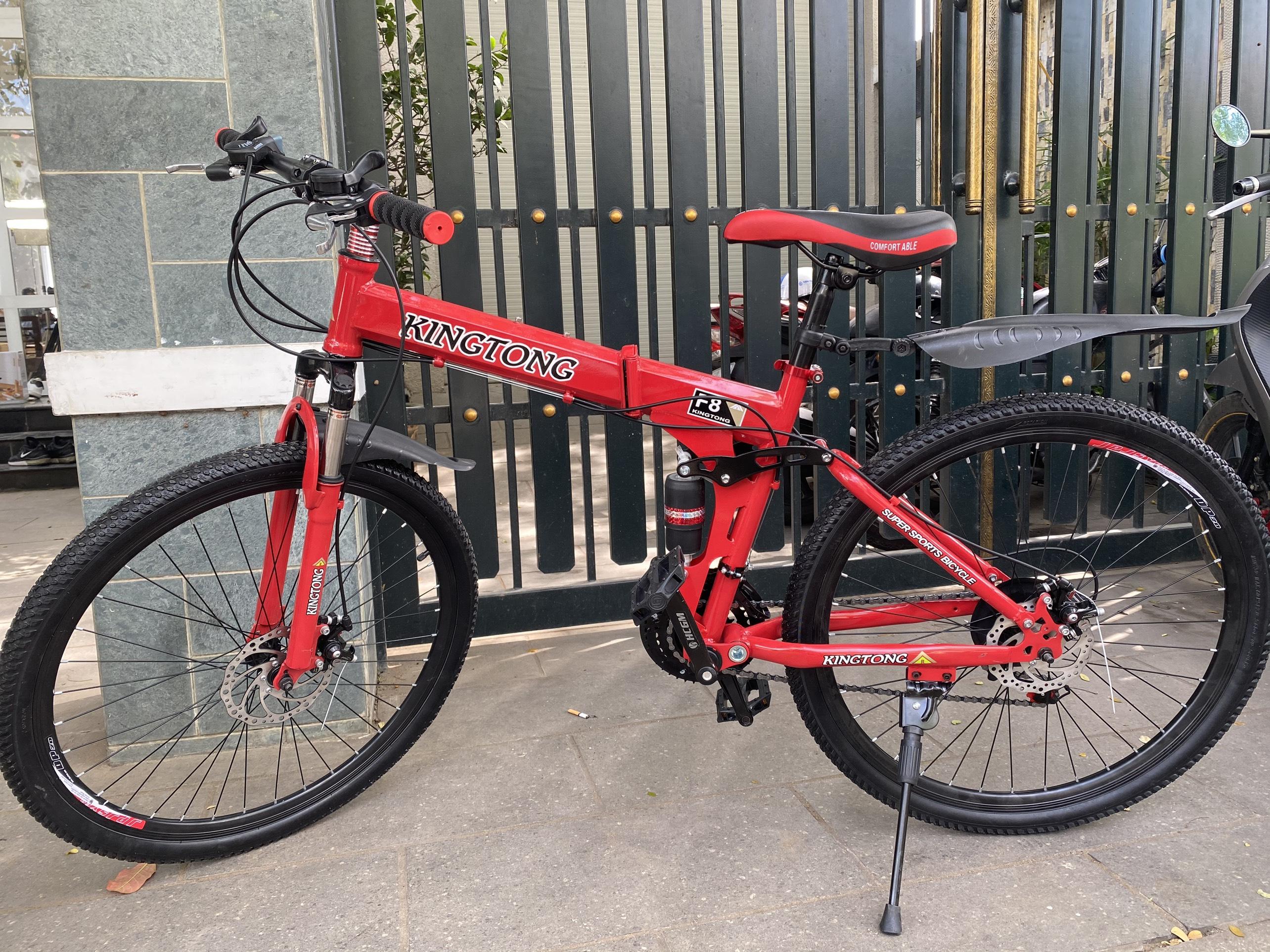 Mua Xe đạp địa hình gấp KINGTONG - Mẫu thiết kế thể thao 2021 (Red)