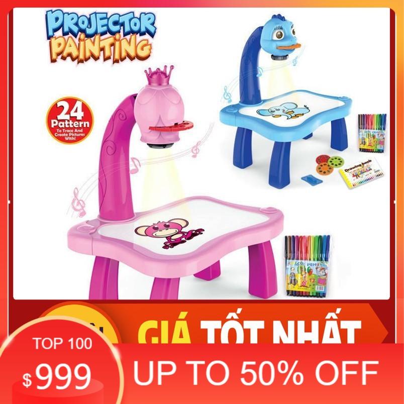 [ CAM KẾT CHẤT LƯỢNG ] Bộ đồ chơi bàn vẽ 3D, bàn chiếu đa năng chiếu hình tập vẽ có đèn chiếu sáng thông mình cho bé, Bộ bàn đèn thông minh chiếu hình tập vẽ cho bé học vẽ