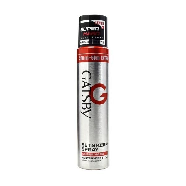 Gôm xịt tạo kiểu tóc gastby set & Kêp Spray Super Hair 250ml (indonesia) giá rẻ