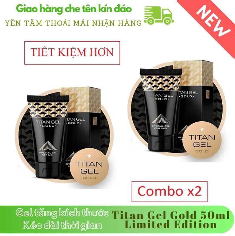 [ Lô mới nhất ] Combo x 2 hộp Gel-Titan-Nga Gold cao cấp phiên bản giới hạn (50ml) (Che tên khi giao hàng) nhập khẩu