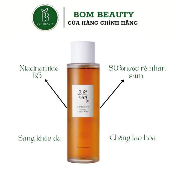 Nước hoa hồng toner dưỡng da Beauty of Joseon - Ginseng Essence Water cao cấp